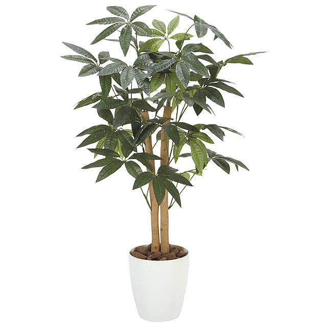 光の楽園 光触媒 人工観葉植物 パキラ 高さ90cm フェイクグリーン 消臭 抗菌 防汚 ホルムアルデヒド分解
