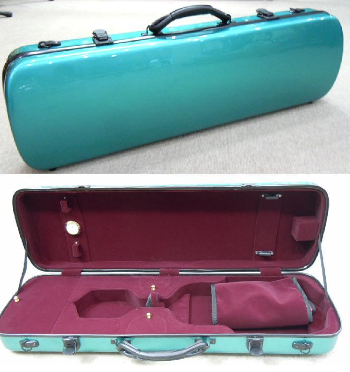 ... Global Market: Violin case glass fiber peppermint green color 4/4 size