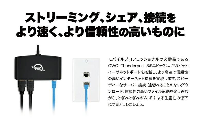 OWC Thunderbolt 3 mini Dock 説明5