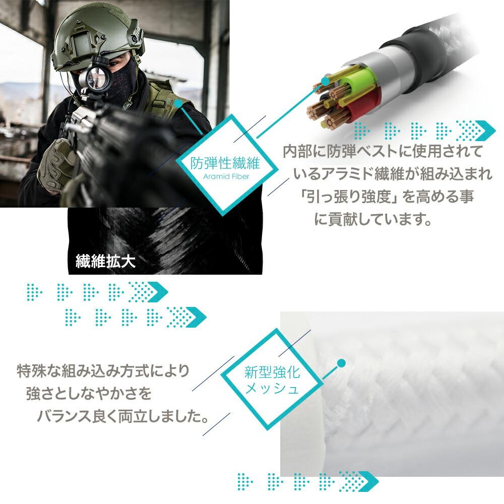 OWLTECH オウルテック 超タフ Type-C to Lightningケーブル