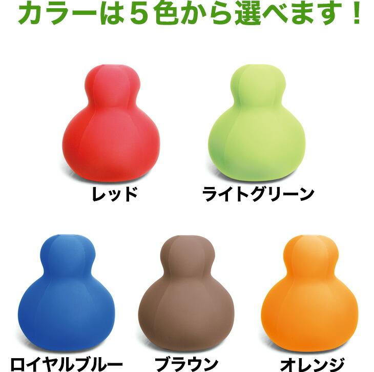 カラーはレッド、オレンジ、ライトグリーン、ロイヤルブルー、ブラウン、ブラックの6色