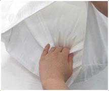 封筒式枕カバー