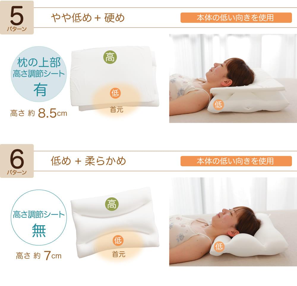 ポイント3枕の高い順5〜6パターンの説明