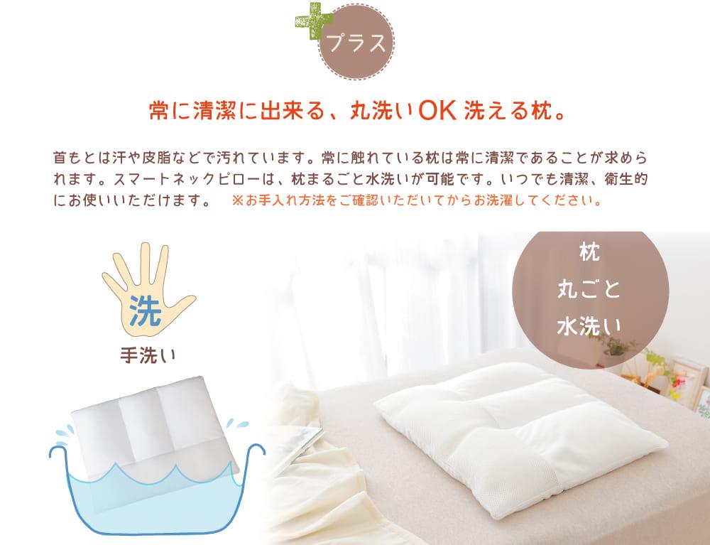 常に清潔に出来る<丸洗いOK>洗える枕。