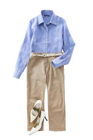 レディースシャツ・ブラウスの着こなしコーディネートイメージ03