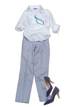 レディースシャツ・ブラウスの着こなしコーディネートイメージ01