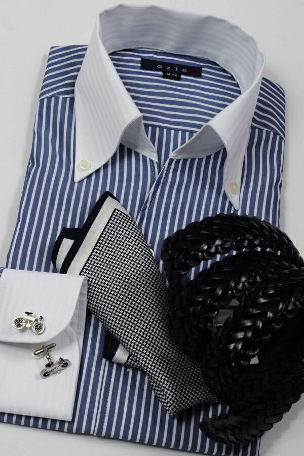 夏の爽やかビジネススタイル、クレリック&スキッパーのシンプルコーディネート