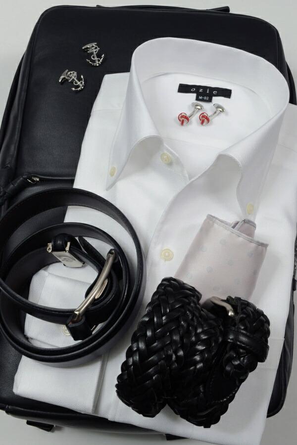 白シャツのステップUPコーデ2  イタリアンカラー(ノータイ)