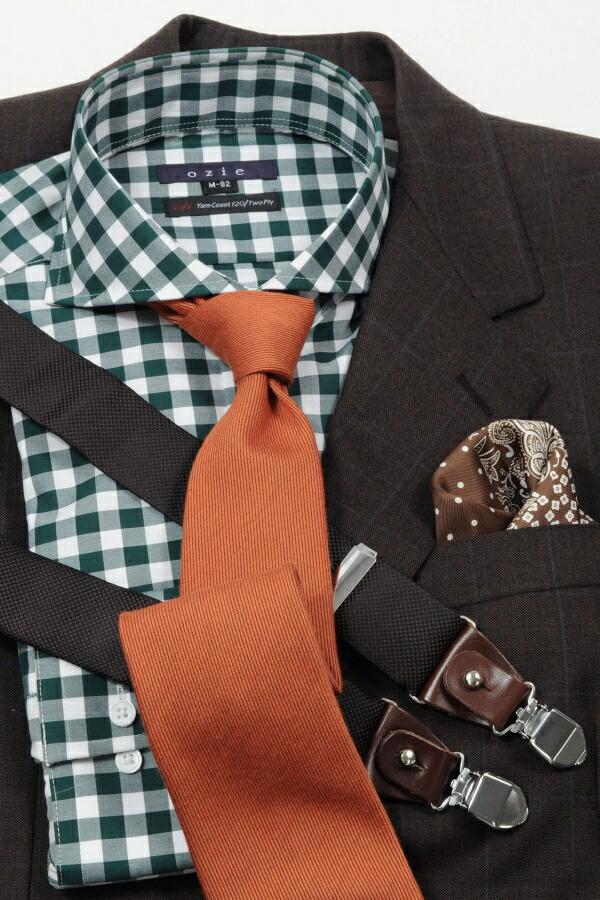 ブラウン系スーツやジャケットに合わせたコーディネート