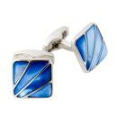カフリンクス・カフスボタン・サイモンカーター・イギリス製・Deco Fan Blue Mother Of Pearl・スクエア
