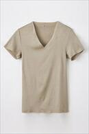 メンズ・インナー・Tシャツ・綿混・カットオフ・立体設計・吸湿速乾・抗菌防臭・日本製
