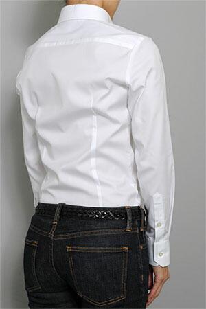 3342813ff28 ozie: 프리미엄 코 튼 형태 안정 가공 버튼 다운 셔츠 모양 기억 여성용 ...