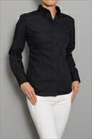 【レディースシャツ】 スリムフィット・長袖・形態安定・ボタンダウン・日本製