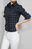 【レディースシャツ】 ワイドカラー・プレミアムコットン100番手双糸・日本製