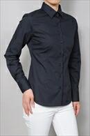 【レディースシャツ】 スリムフィット・長袖・形態安定・ワイドカラー・日本製
