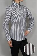 レディースシャツ・ナチュラルフィット・長袖・ワイドカラー・日本製