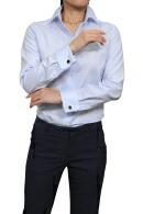 長袖・プレミアムコットン120番手双糸・イージーケア・ダブルカフス・ワイドカラー・日本製