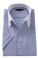 半袖・クールマックス・形態安定・オックスフォード・イタリアンカラー・ボタンダウン・クレリック・第一ボタンあり