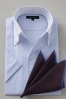 形態安定・クールマックス・スキッパー・イタリアンカラー・半袖