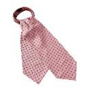 アスコットタイ・イタリア製生地・シルク100%・ピンク・ペイズリー・日本製