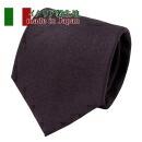 【ネクタイ・イタリア製生地】<br>織柄無地ヘリンボーン・パープル・日本製