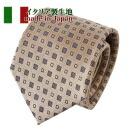 【ネクタイ・イタリア製生地】小紋・ベージュ・日本製