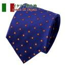 【ネクタイ・イタリア製生地】小紋・ブルー・日本製