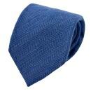 【ウールタイ・ネクタイ】<br>ヘリンボーン・ブルー・日本製