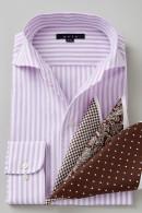からみ織りシャツ・イタリアンカラー&ワイド・長袖