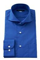 形態安定・青シャツ