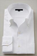 メンズ・ドレスシャツ・ワイシャツ・タイトフィット・イタリアンカラー・ボタンダウン・第一ボタンあり