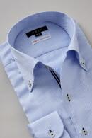 プレミアムコットン100番手双糸・イタリアンカラー・ボタンダウン・第一ボタンあり
