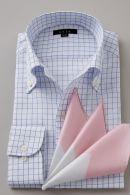 アイスコットン・イタリアンカラー・長袖