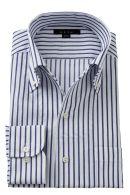 からみ織りシャツ・イタリアンカラー・長袖
