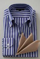 からみ織りシャツ・イタリアンカラー&ボタンダウン・長袖