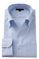 クールマックス・オックスフォード・形態安定・イタリアンカラー・ボタンダウン・第一ボタンあり