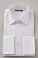 袖後付け立体パターン・プレミアムファブリック120番手・ダブルカフス・クレリック・ワイドカラー・ポケット無し・日本製