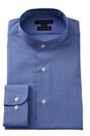 イタリア製生地・オックスフォード・プレミアムコットン100番手双糸・スタンドカラー・ポケット無し