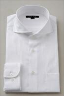 メンズ・ドレスシャツ・ワイシャツ・タイトフィット・ホリゾンタルカラー・カッタウェイ