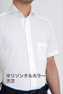 ビズポロ・ホリゾンタルカラー半袖