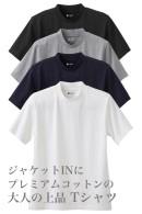 Tシャツ・半袖・綿100%・プレミアムコットン・度詰め天竺ニット・丸首・クルーネック