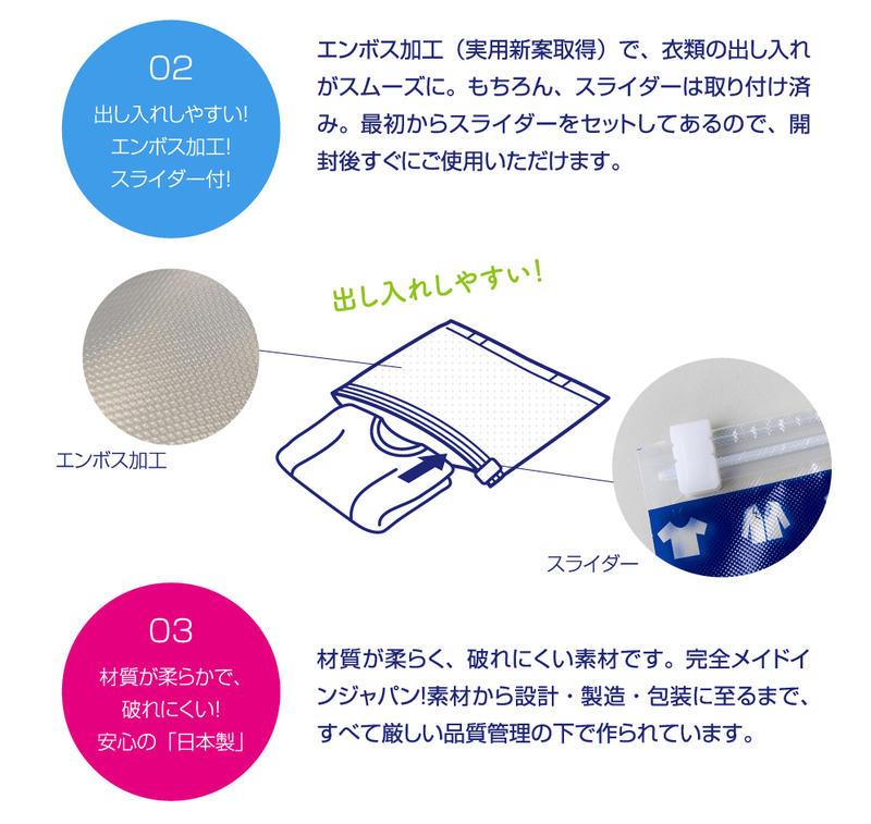 衣類圧縮袋リムーブエアー スライダー 衣類圧縮パック