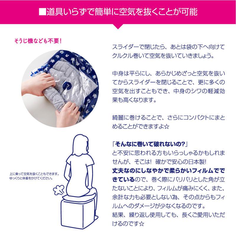 衣類圧縮袋リムーブエアー 旅行用品 衣類圧縮パック