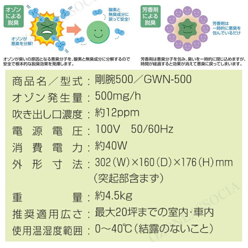剛腕500 オゾン発生器