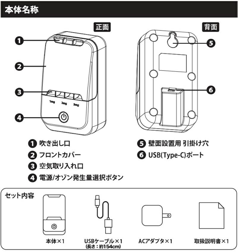 空気清浄器 快適マイエアー OZ-3 メンテンナス 付属品 本体名称
