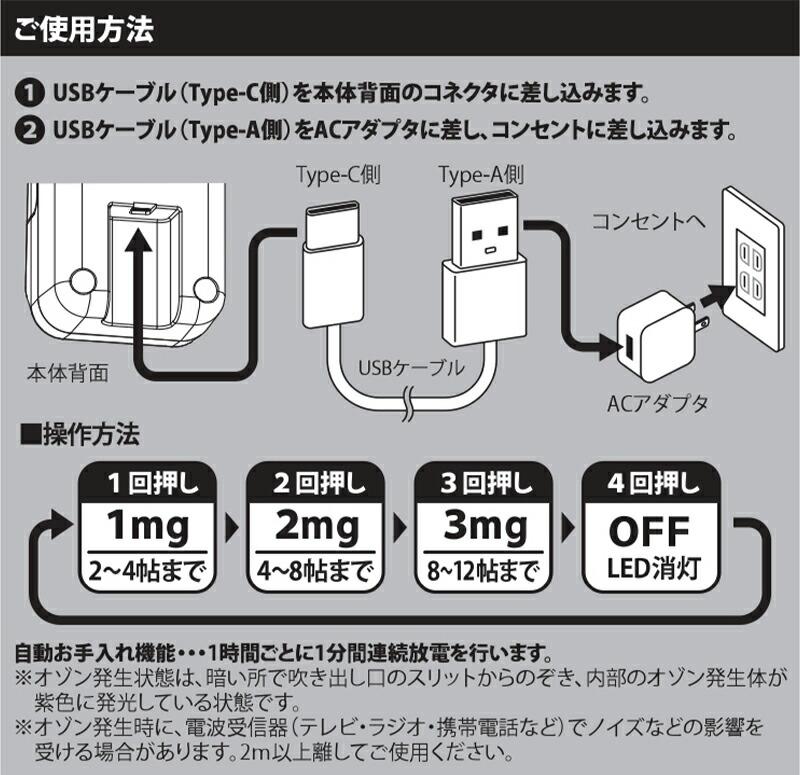 空気清浄器 快適マイエアー OZ-3メンテンナンス方法 使用方法