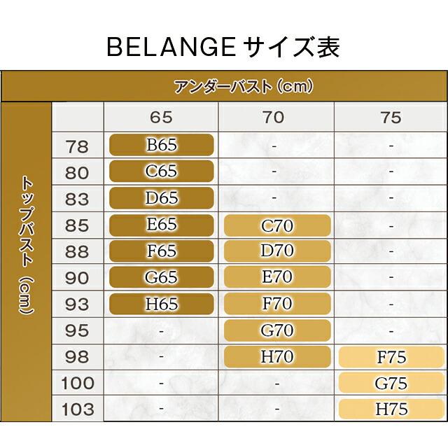 BELANGEBraベランジェブラ サイズ表