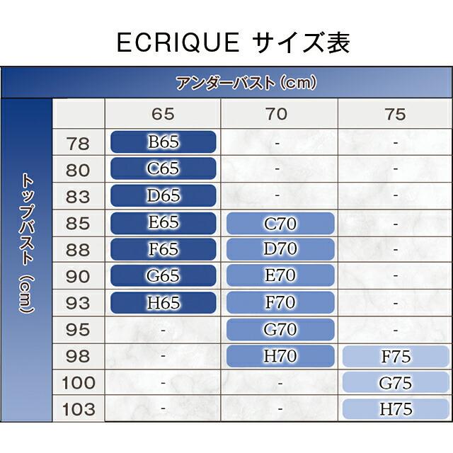 ECRIQUEBra エクリークブラサイズ表