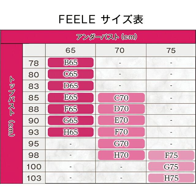 Belletia Paris FEELE Braフィーユブラ サイズ表