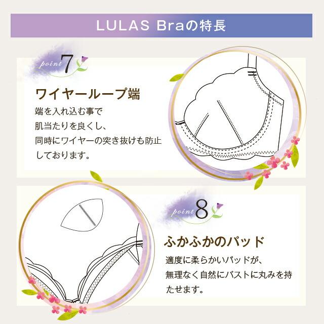Belletia PARIS ベルティアパリ LULAS Bra ルーラス ブラの特長point7ワイヤーループ端、point8ふかふかのパッド